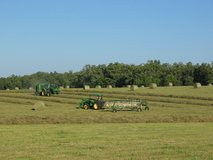Big Round Bales of Mixed Grass & Clover Hay in Rolla, Missouri