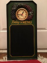 Cool wall clock with black board - keeps perfect time! in Algonquin, Illinois