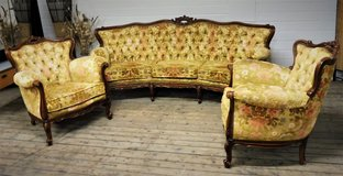 Antique Chippendale Barock Style Couch Set in Ramstein, Germany
