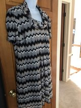 Flame Stitch Cowl Neck Short Sleeve Dress - 18  - Dress Barn in Naperville, Illinois