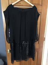 New - Black Sheer and Sequined Dress - 18W in Naperville, Illinois