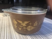 Vintage Pyrex Americana Rooster #473 - 1 Quart Casserole with Lid in Naperville, Illinois