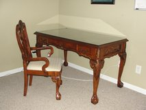 BEAUTIFUL BALL AND CLAW DESK WITH MATCHING CHAIR in Camp Lejeune, North Carolina