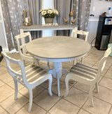 Farmhouse Dining Room Table with Chairs and Buffet Table in Miramar, California