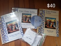 First Form Latin cd, workbook, teacher manuals, vocabulary cards in Lackland AFB, Texas