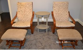 2 chairs with foot stools in Tomball, Texas