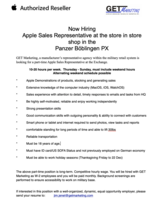 Apple Vendor Representative at Panzer PX Apple Shop in Stuttgart, GE