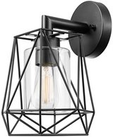 Globe Electric Outdoor/Indoor Wall Sconce Light - Black - New! - in Plainfield, Illinois