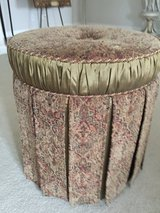 Gold and burgundy ottoman in Westmont, Illinois