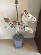 Musical horse carousel in Westmont, Illinois