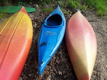 Kayak Preception Acalia Scout with paddle in Fort Leonard Wood, Missouri