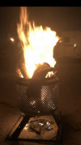 Fire pit in Camp Pendleton, California