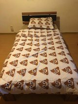 IKEA Extra Long Twin Bed with Mattress in Ramstein, Germany