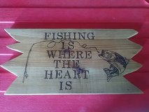 Fishing sign in Fort Campbell, Kentucky