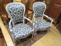 Antique armchair upholstered armchair blue in Baumholder, GE
