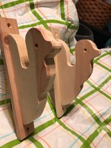 Natural Wood Curtain Rod Holders in Alamogordo, New Mexico