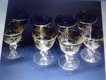Vintage wine goblets in Fort Campbell, Kentucky