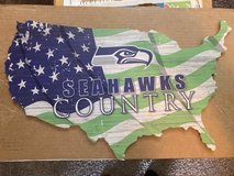SEAHAWKS COUNTRY - U.S.A. / Flag Rustic Design Hanging Wooden Sign *** NEW *** in Tacoma, Washington