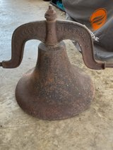 Cast iron dinner bell in Fort Campbell, Kentucky