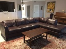 Large Living Room sectional - leather like and comfy TV room piece in Tomball, Texas