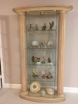 Glass curio display case (without curios) in Tomball, Texas