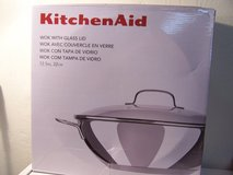 Kitchen Aid Wok With Glass Lid in Alamogordo, New Mexico