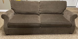 Large couch great condition green by Arhaus in Naperville, Illinois