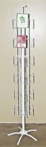 Greeting Card Display Rack - White with 24 Slots for A-2 or A-7 Greeting Cards. in Spring, Texas