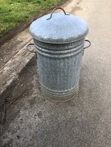 Vintage galvanised small Dustbin in Lakenheath, UK