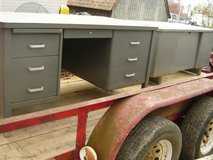 Old metal/steel desk in Fort Campbell, Kentucky