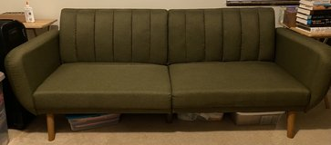 Small Green Couch Fold Out Bed in Rolla, Missouri