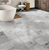 "Grey Marble 12"" Peel and Stick Vinyl Tile - 90 Square Feet in Joliet, Illinois"