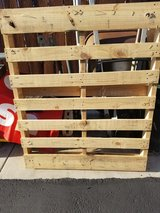 1 wood pallet ...great for a vertical succulent holder in Camp Pendleton, California