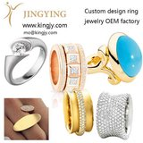 Custom design Rose Gold Plated Ring OEM jewelry in Miramar, California