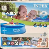 Inflatable Intex 8 ft Outdoor Pool with Filter in St. Charles, Illinois