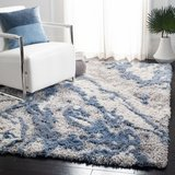 Tristan Abstract Gray/Blue Area Rug in Morris, Illinois