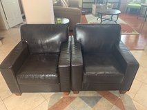 Set of 2 leather chairs in Camp Pendleton, California