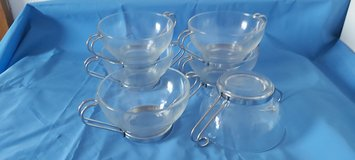 6 glass soup bowls in Baumholder, GE