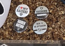 NFL Raiders buttons in 29 Palms, California