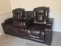 BIG CHIEF POWER RECLINING SOFA W/ DROP TABLE AND ADJUSTABLE HEADREST in Fort Carson, Colorado