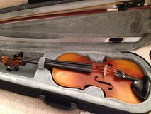 3/4 Violin with new strings -- Made in Germany in Stuttgart, GE