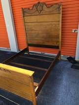 Antique Solid Oak High Back Bed in Cherry Point, North Carolina