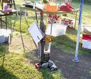 A bunch of stuff for flea market or yard sale. vacuums, recliner, clothes, toys, books, walker, ... in Alamogordo, New Mexico