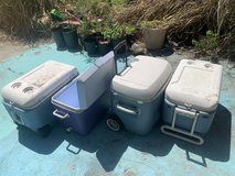 For sale a lot of 4 Coolers great to go fishing, also great for the fishing bait. in Fort Polk, Louisiana