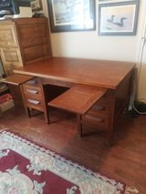 Antique Desk Executive Oak Two Sided in Tomball, Texas