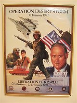 Rare Operation Desert Storm Poster (Signed) in Lackland AFB, Texas