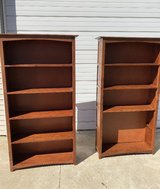 Set of 2 tall bookcases in Naperville, Illinois