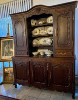 gorgeous Louis XV style 2 piece dining room hutch with hand carved ornaments in Wiesbaden, GE