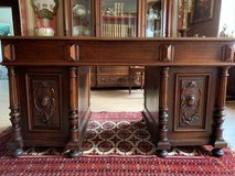 Gentleman´s Office - Set , Bookcase, Desk and Chair circa 1880 Henri II in Ramstein, Germany