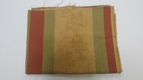 FABRIC - Drapery - Gold, Red, Green in Naperville, Illinois